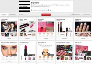 Sephora's Pinterest